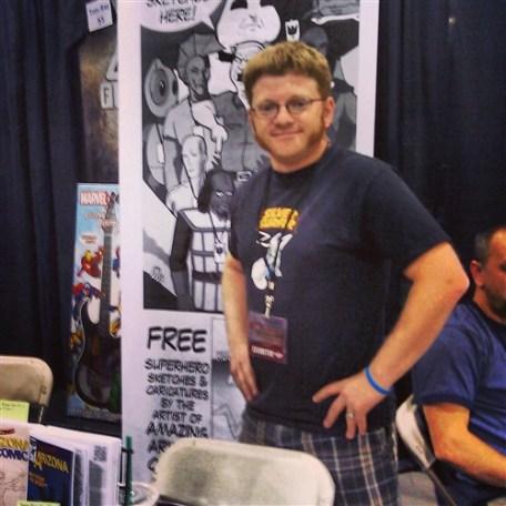 Local Comic Creator Russ Kazmierczak. Booth #1723