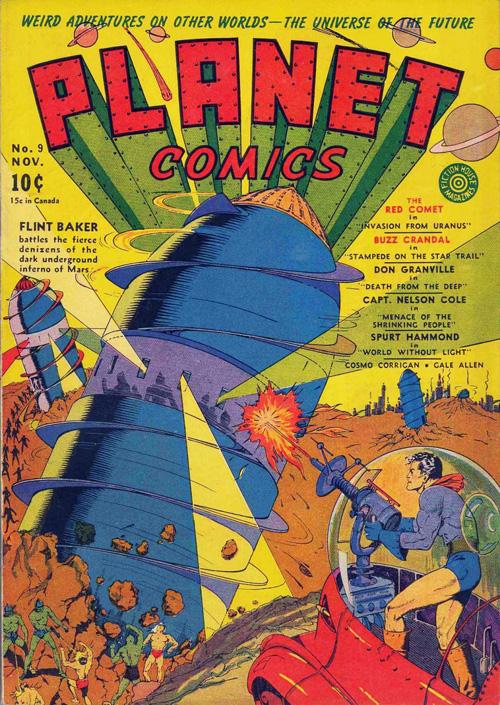 Planet Comics #9 - November, 1940