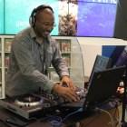 DJ Dn3 was on hand mixing beats with MegaRan.