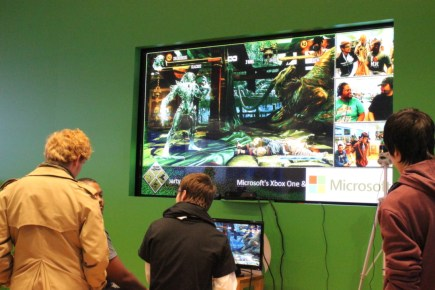 Attendees played round after round of Killer Instinct on livestream.