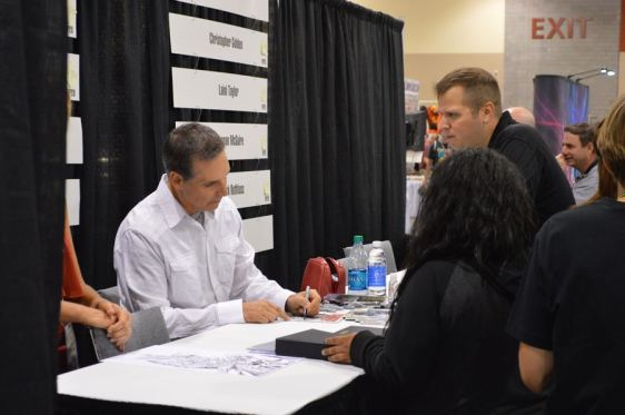 McFarlane with fans