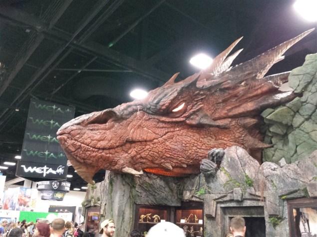 Life-sized Smaug at the Weta exhibit-San Diego Comic-Con 2014