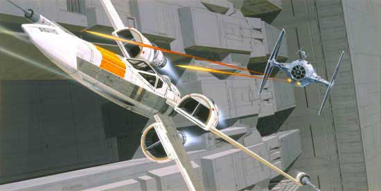Ralph McQuarrie X-Wing starfighter