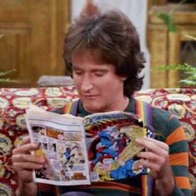 Mork reading Superman #312