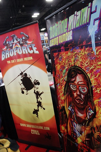 Devolver Digital showed off a wide variety of games, including the much anticipated Hotline Miami 2.