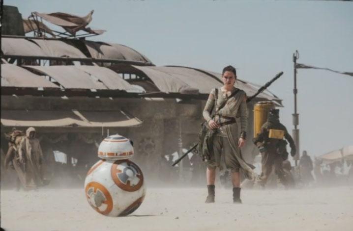 BB-8 and Rey on Jakku