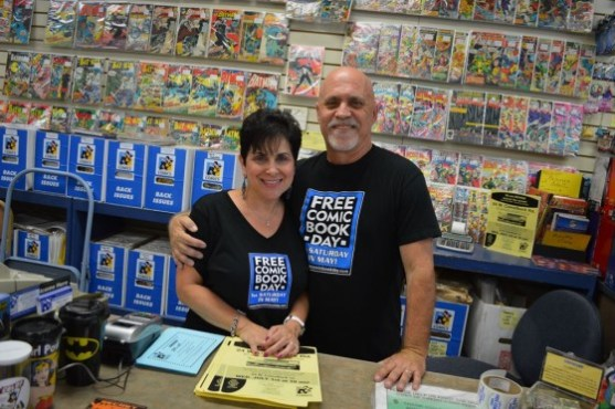 All About Books & Comics owners, Marsha and Alan Giroux - FCBD 2015