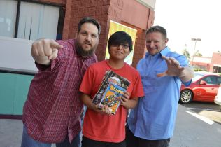Local comic creators (L to R) Denny Riccelli, Damon Begay, Eric Mengel