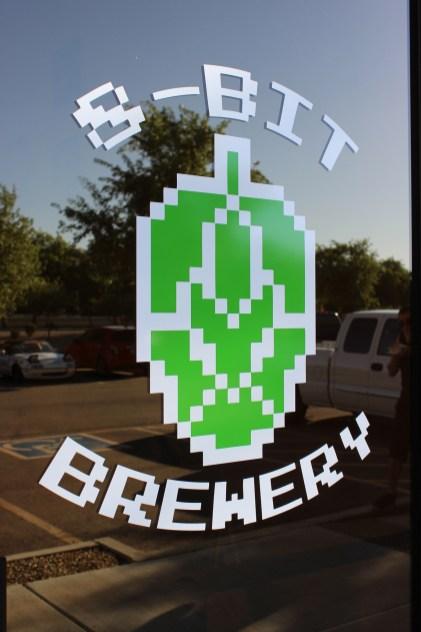 8-Bit Brewery's front door.
