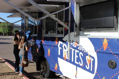 Food truck Frites Street cooked up gourmet french fries for 8-Bit patrons.