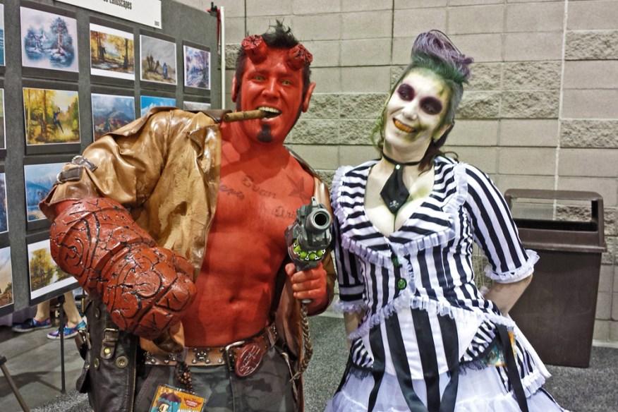 Hellboy and Lady Beetlejuice
