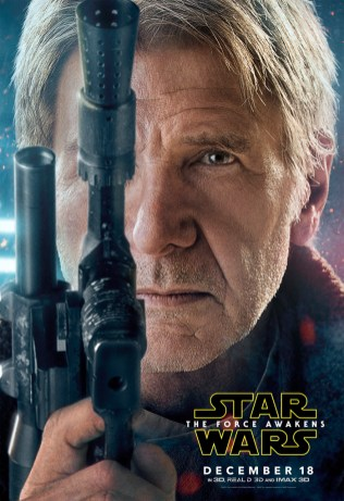 Han The Force Awakens character posters