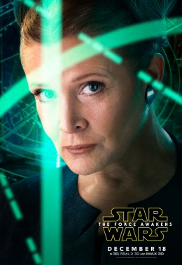 General Leia Organa in Star Wars: Episode VII - The Force Awakens.