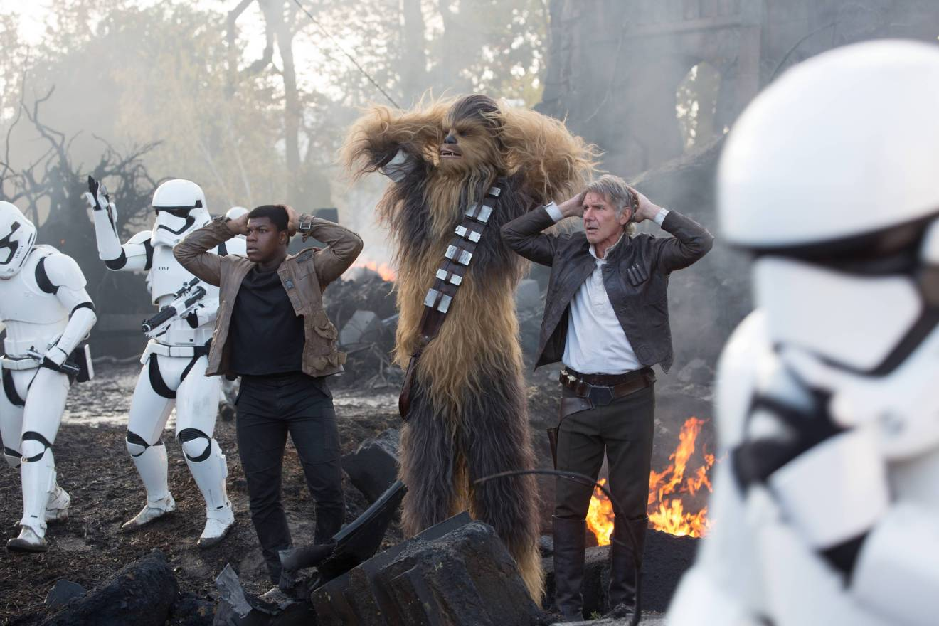 Chewing the scenery in Star Wars: The Force Awakens