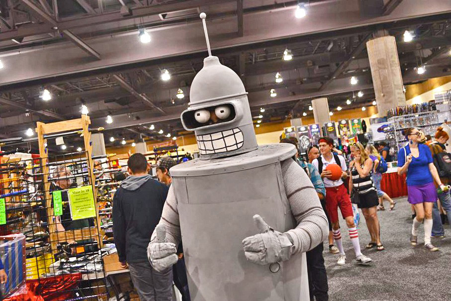 Bender approves of NERDVANA's event recommendations!