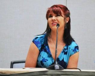 Amanda Mozilo at Phoenix Comicon Jaws Panel