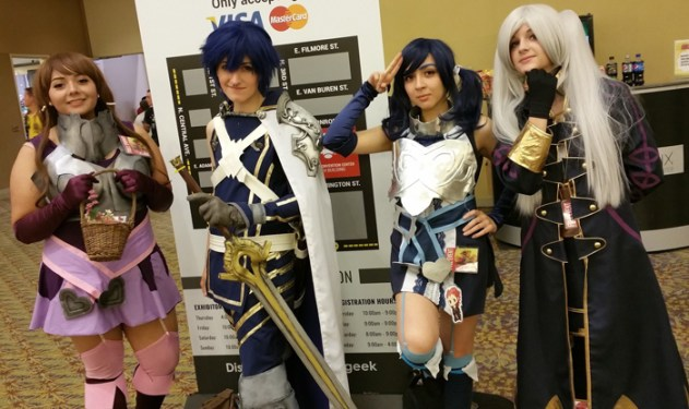 Fire Emblem Awakening cosplay group. [photo by Justin Franco]