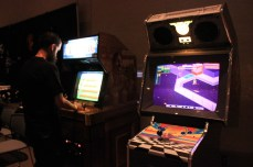 Part of the Cobra Arcade on-site lounge. [photo by Christen Bejar]