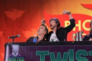 Nolan North and Troy Baker ham it up for the crowd. [photo by Christen Bejar]