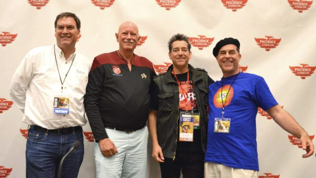 (L-R) Grant Anderson, Dr. Peter Smith, Geoff Notkin, Dr. Bruce Bayly
