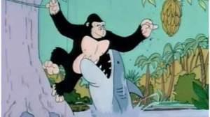 shark gorilla bananas