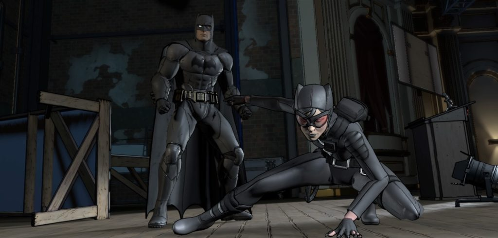 Batman and Catwoman team up this episode.