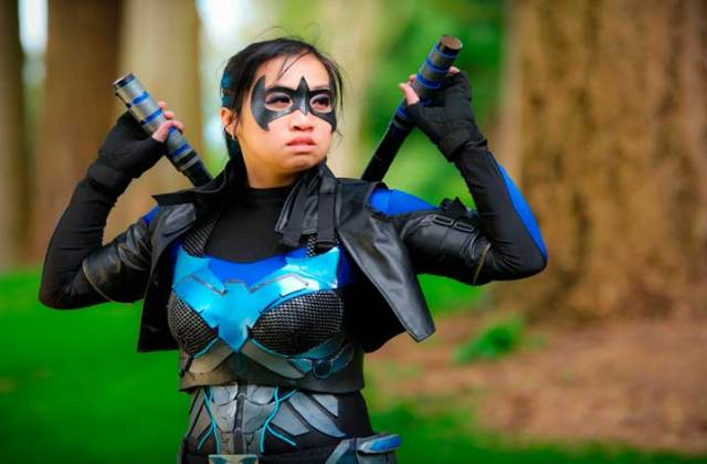 """""""Nightwing"""" Netherjade Cosplay photography by Aaron Nanto for Women vs Cosplay"""