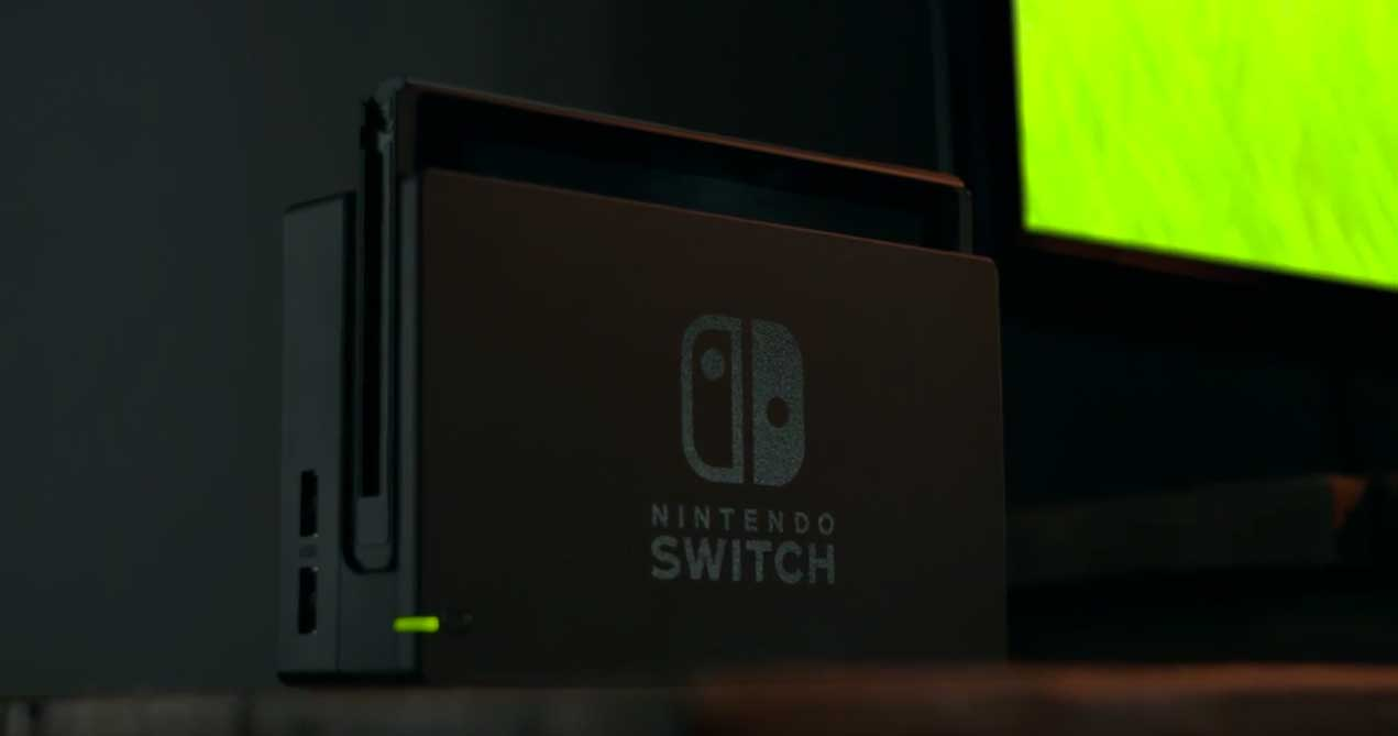 Nintendo Switch console in its Dock