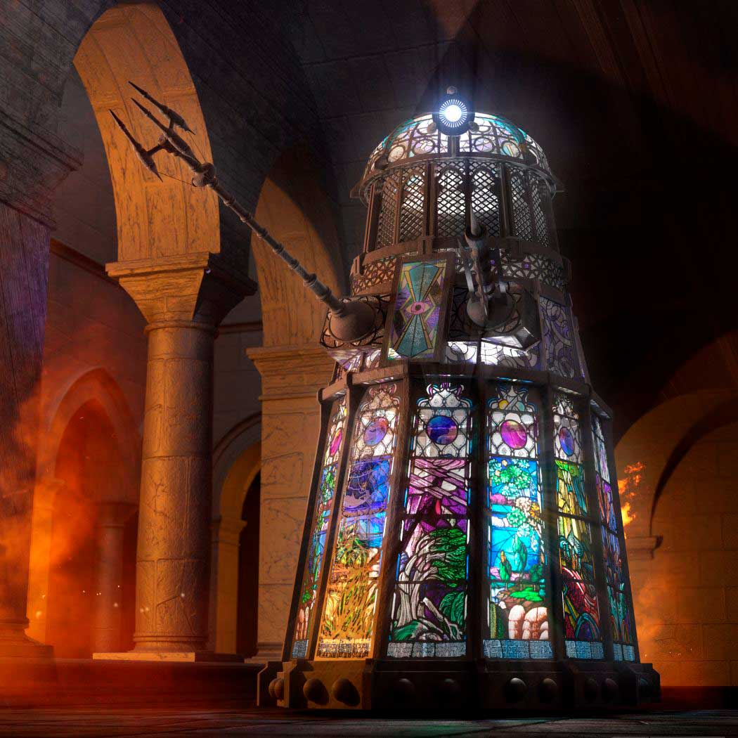 Stained glass Dalek by Chris Thompson