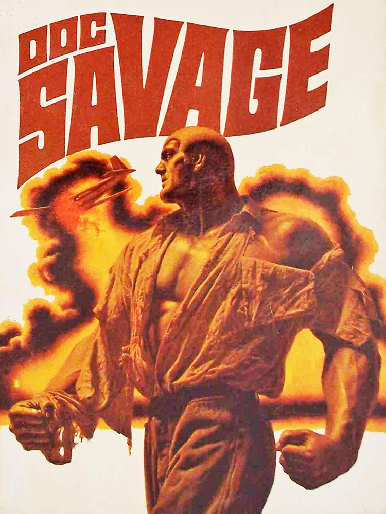 Doc Savage - cover of 'The Yellow Cloud' illustrated by James Bama