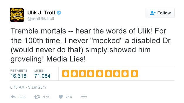 Ulik the Troll or Donald J. Trump