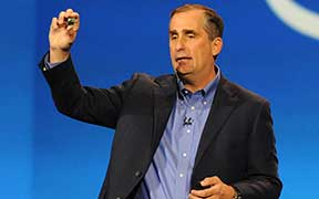 Intel CEO Brian Krzanich iin a photo from 2014. Krzanich was at the White House on Wednesday where he announced that the company will invest $7 billion in a plant to manufacture a new generation of semiconductor chip in Chandler. (Photo by Bob Riha Jr., Intel Free Press/Creative Commons)