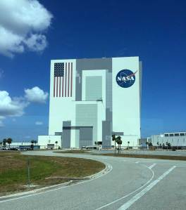 Vehicle Assembly building at Kennedy Space Center.