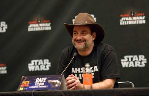 Star Wars Rebels executive producer and supervising director Dave Filoni addresses the press at Star Wars Celebration Orlando 2017.