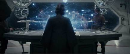 General Leia Organa surveys the tactical situation in the trailer for Star Wars: Episode VIII - The Last Jedi