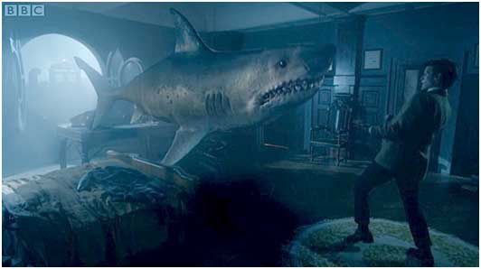 That time the 11th Doctor taught us the True Meaning of Space Christmas with Sharks.