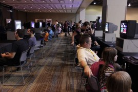 Casual setups for gaming were in abound a the convention.