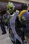 Samantha Kitts of Thermo Cosplay was rocking out her Thane Krios from Mass Effect cosplay.