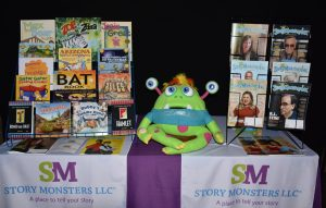 Story Monsters LLC, based in Chandler, will be attending the Mesa Book Festival on Dec. 9 in downtown Mesa. They will be interacting with attendees with the help of the Story Monster Mascot, in addition to sharing information about their books and issues of the Story Monsters Ink magazine. (Linda Radke, Story Monsters LLC/Special to MyNewsMesa.com)