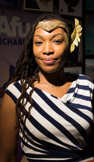 Marvel's World of Wakanda creator and illustrator, Afua Richardson, showcased her comic books during Ace Comic Con. (Photo by Melina Zuniga/Cronkite News)