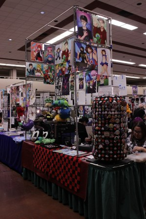 While limited in moving room, the artist alley area was popular throughout the weekend.