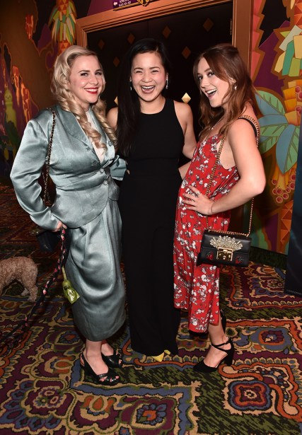 HOLLYWOOD, CA - MARCH 08: (L-R) Chelsea Hamill, Kelly Marie Tran, and Billie Lourd at Mark Hamill Star Ceremony on the Hollywood Walk of Fame on March 8, 2018 at Hollywood Walk Of Fame in Hollywood, California. (Photo by Alberto E. Rodriguez/Getty Images for Disney) *** Local Caption *** Chelsea Hamill; Kelly Marie Tran; Billie Lourd