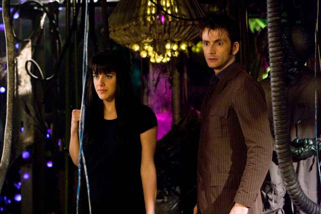 Michelle Ryan with David Tennant in 2009's Doctor Who adventure Planet of the Dead.