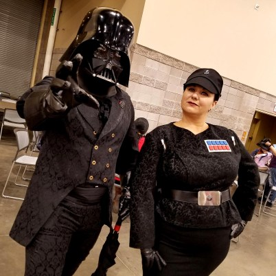 Dapper Imperials reach out to crush someone at Phoenix Comic Fest, Friday, May 25, 2018, at the Phoenix Convention Center.