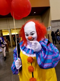 They float down here ... Pennywise turns up at Phoenix Comic Fest, Friday, May 25, 2018, at the Phoenix Convention Center.