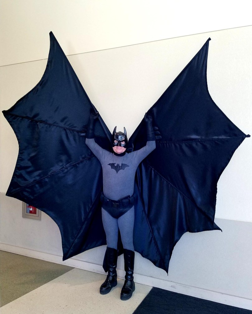 Classic Batman cosplay takes wing at Phoenix Comic Fest, Sunday, May 27, 2018, at the Phoenix Convention Center.
