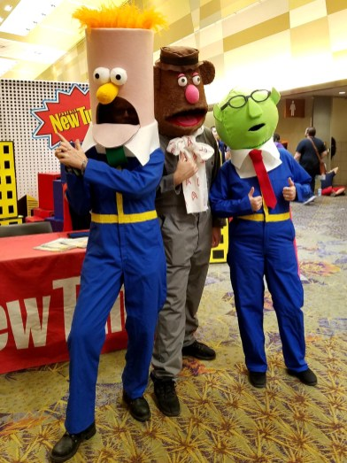 The bad boys of Sesame Street strut their stuff and strike a pose at Phoenix Comic Fest, Sunday, May 27, 2018, at the Phoenix Convention Center.