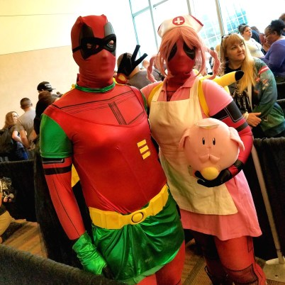 Paging ... Deadpool Robin and Nurse Deadpool? ... at Phoenix Comic Fest, Sunday, May 27, 2018, at the Phoenix Convention Center.