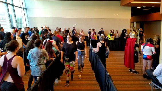 This is just a part of the line for the Michael Rooker appearance at Phoenix Comic Fest, Sunday, May 27, 2018, at the Phoenix Convention Center.