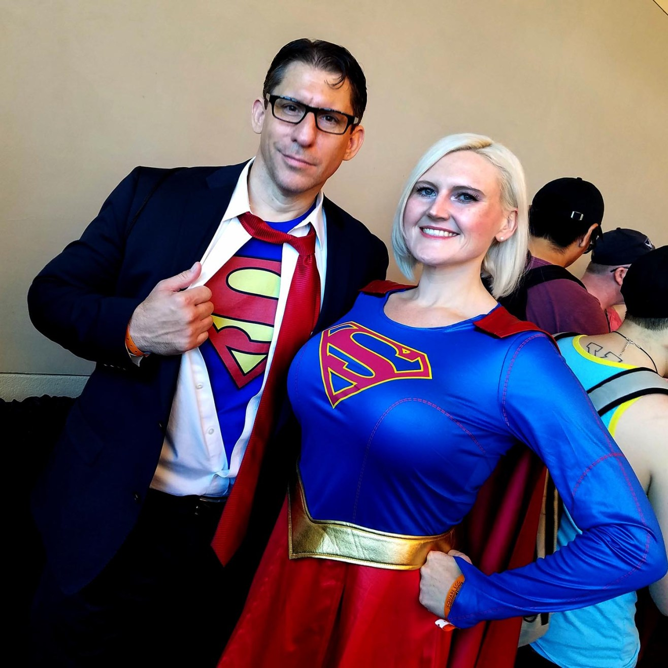 Clark Kent and Supergirl reporting for duty at Phoenix Comic Fest, Sunday, May 27, 2018, at the Phoenix Convention Center.